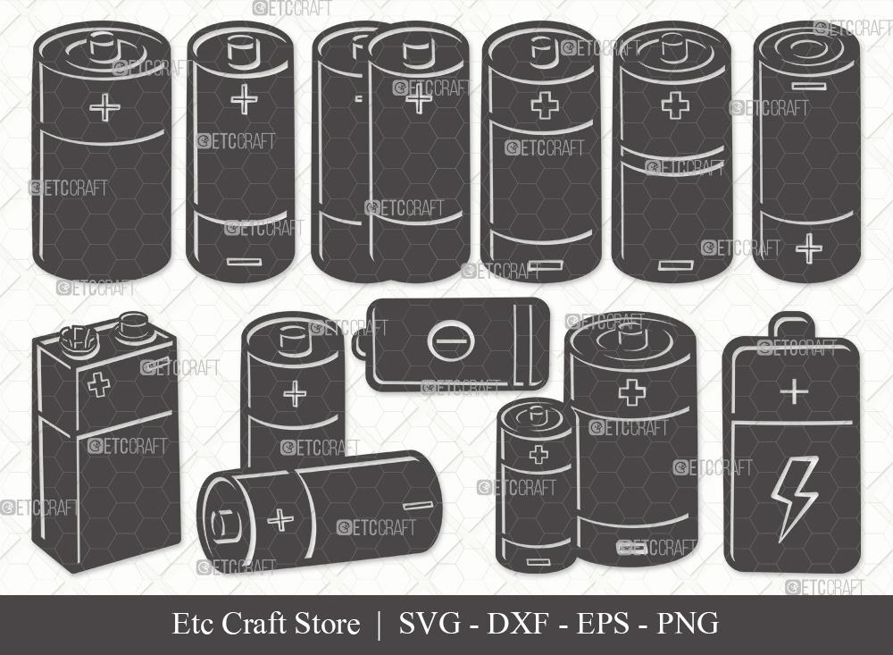 Battery Silhouette SVG Cut File | Battery Svg