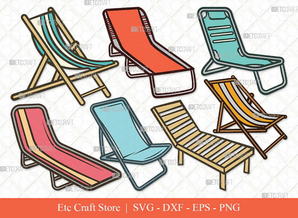 Beach Chair Clipart SVG Cut File | Summer Svg