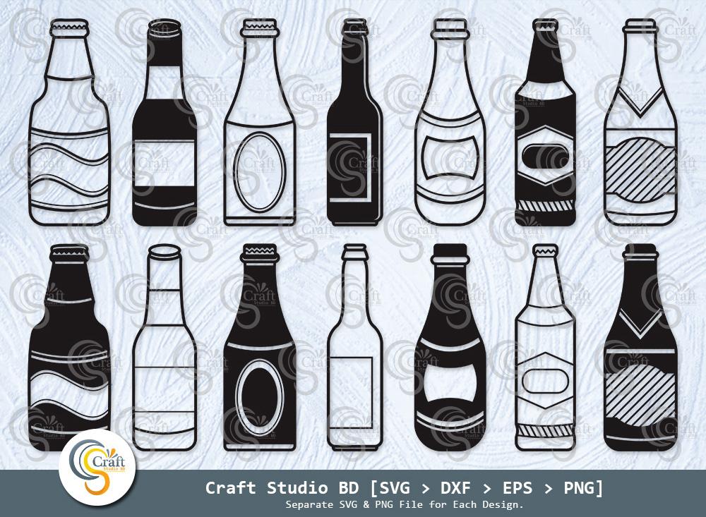 Beer Bottle Silhouette, Cheers, Beer Bottle SVG