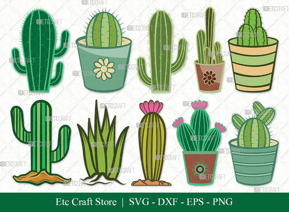 Cactus Clipart SVG | Plant | Cactus SVG Bundle