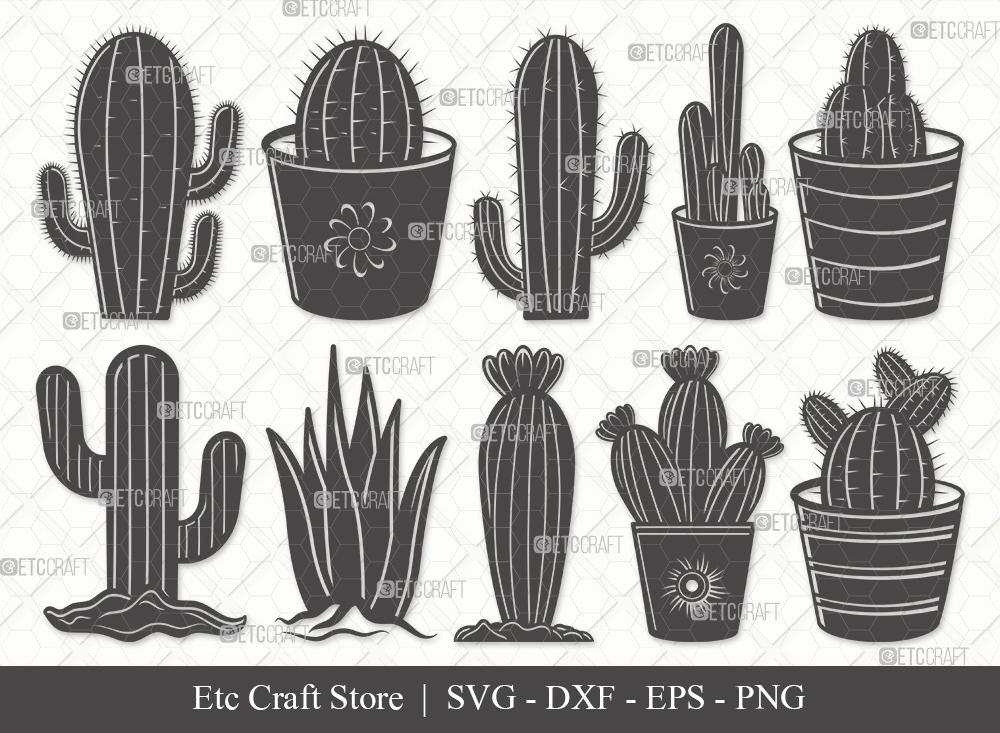 Cactus Silhouette SVG | Plant Svg | Cactus SVG