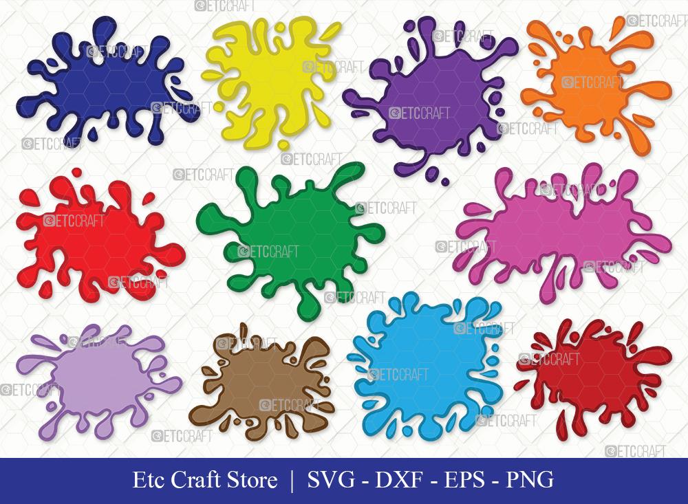 Ink Splatter Clipart SVG   Blood Splatter Svg