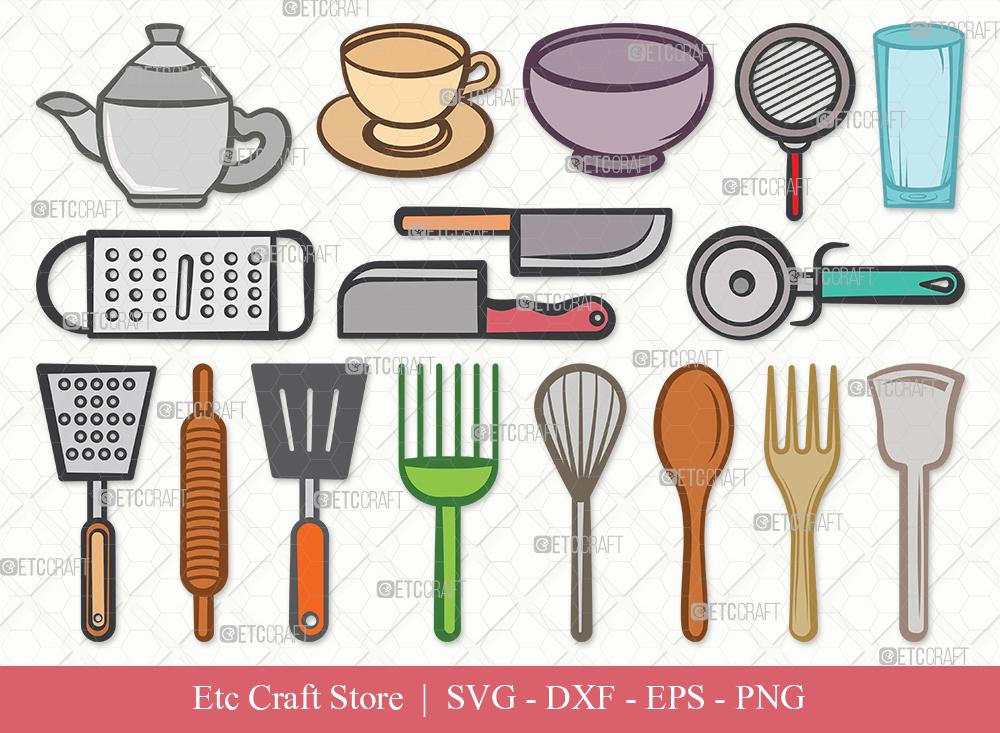 Kitchen Clipart SVG | Cooking Utensils Svg