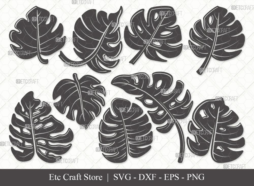 Monstera Leaf Silhouette SVG | Leaves SVG