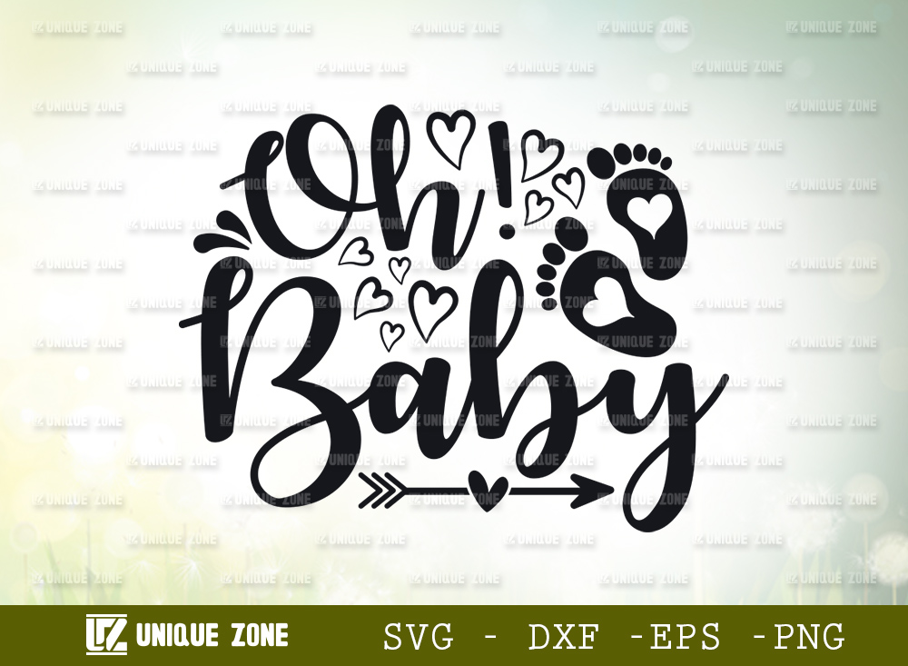 Oh! Baby SVG Cut File   Baby Shower Svg