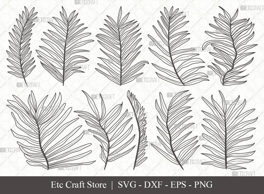 Palm Leaves Outline | Palm Leaf Svg | Plants Svg