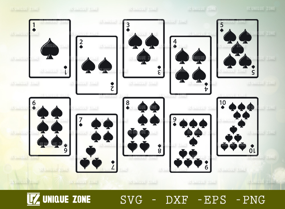 Playing Cards SVG Cut File | Poker Cards Svg
