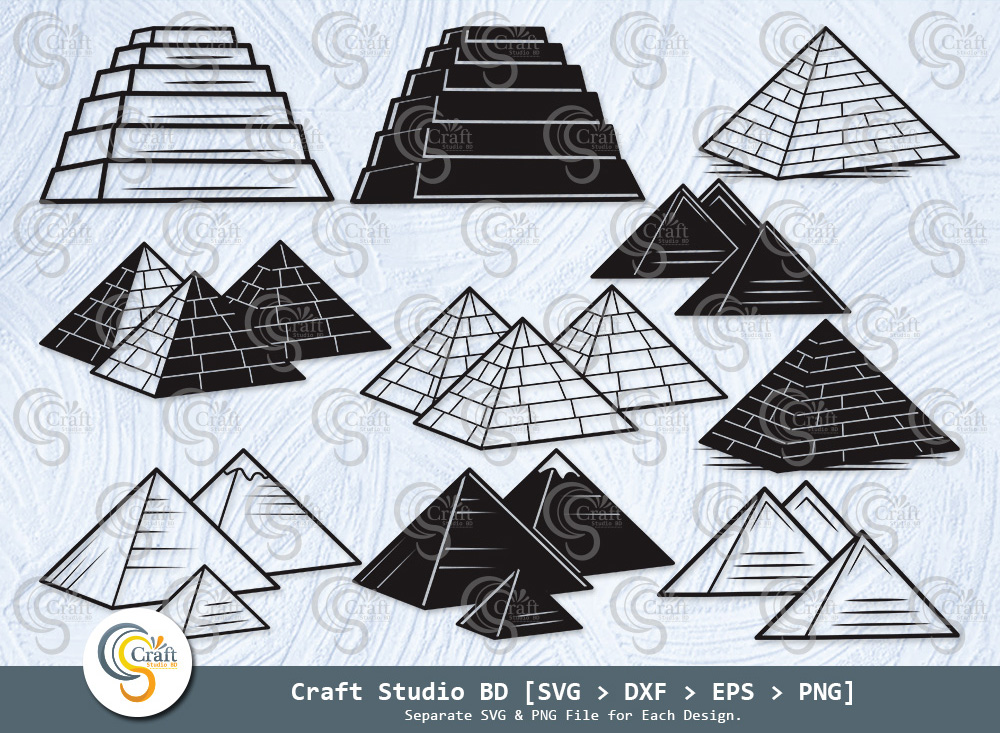 Pyramid Silhouette, Egypt SVG, Pyramid SVG