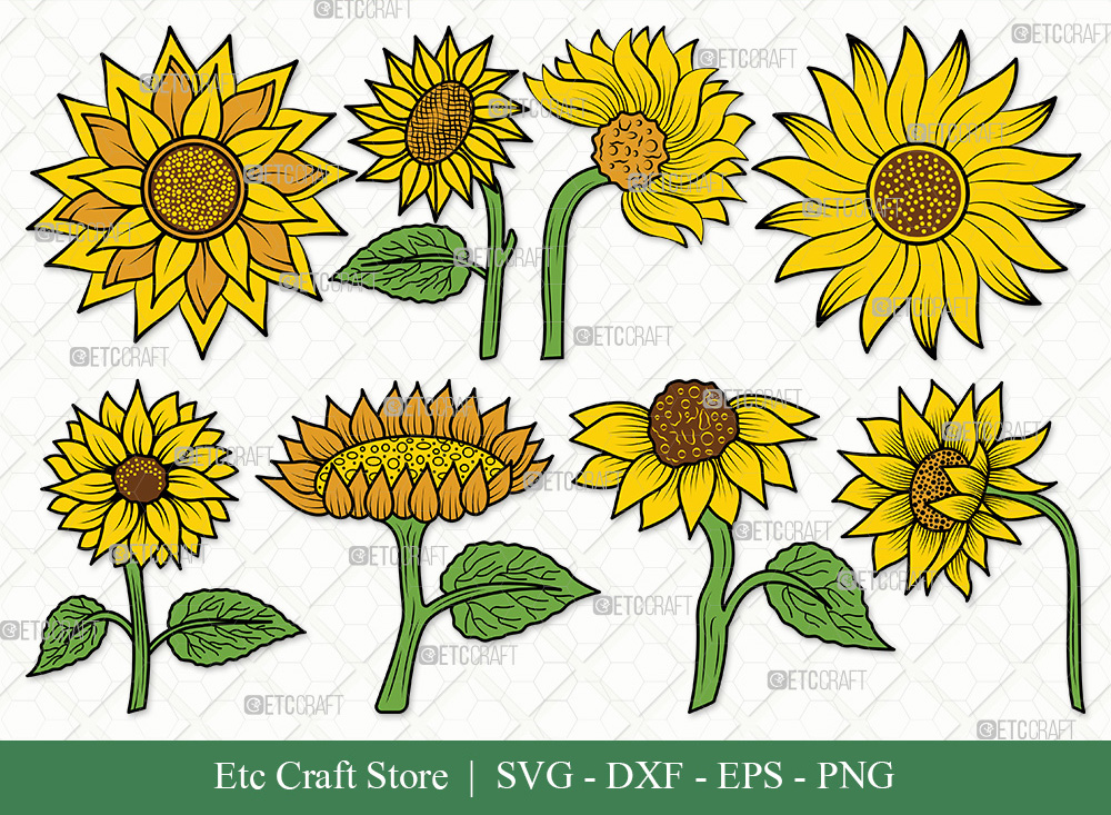 Sunflower Clipart SVG | Sunflower SVG Bundle