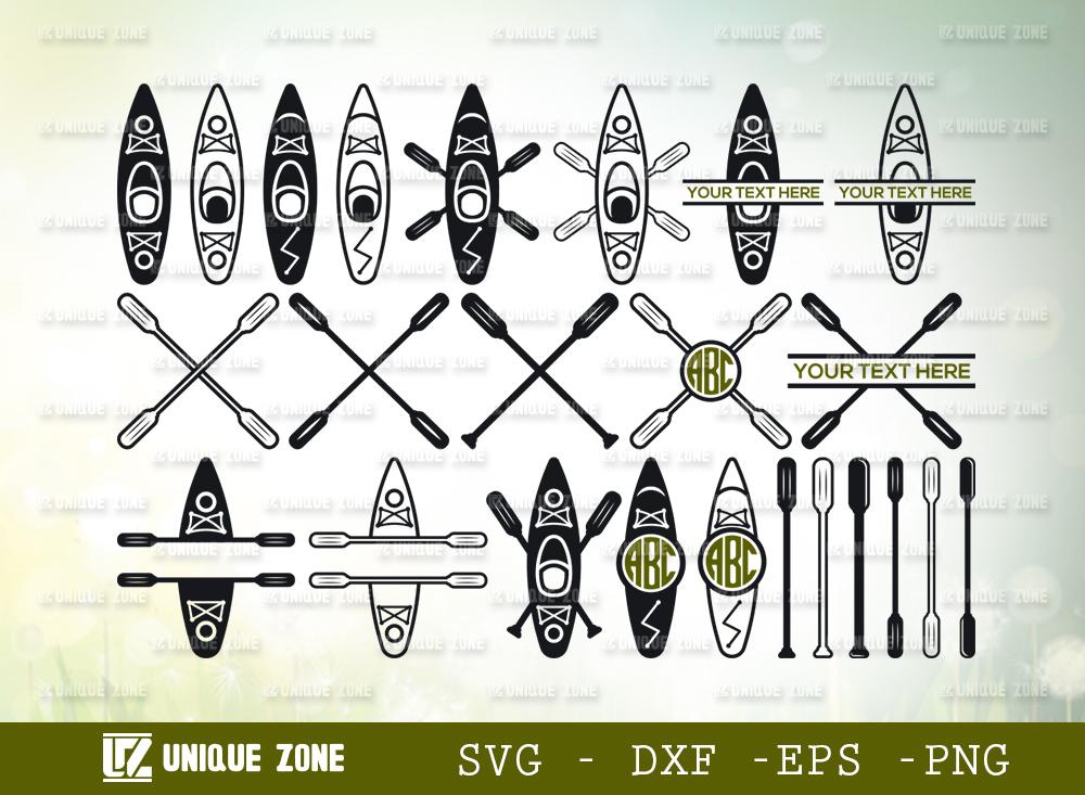 kayak SVG Cut File | Kayak Boat Svg | Canoe Svg