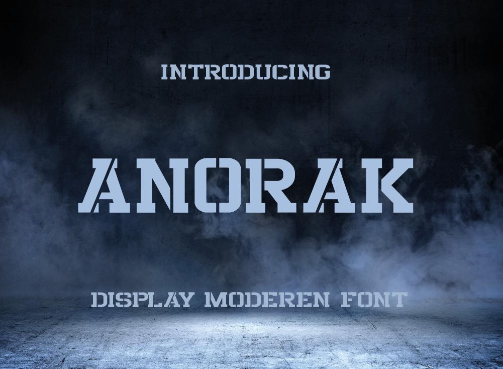 Anorak Font, Unique Display Font