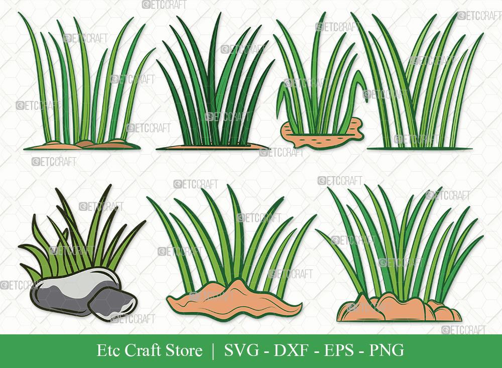 Grass Clipart SVG   Plants   Grass SVG Bundle
