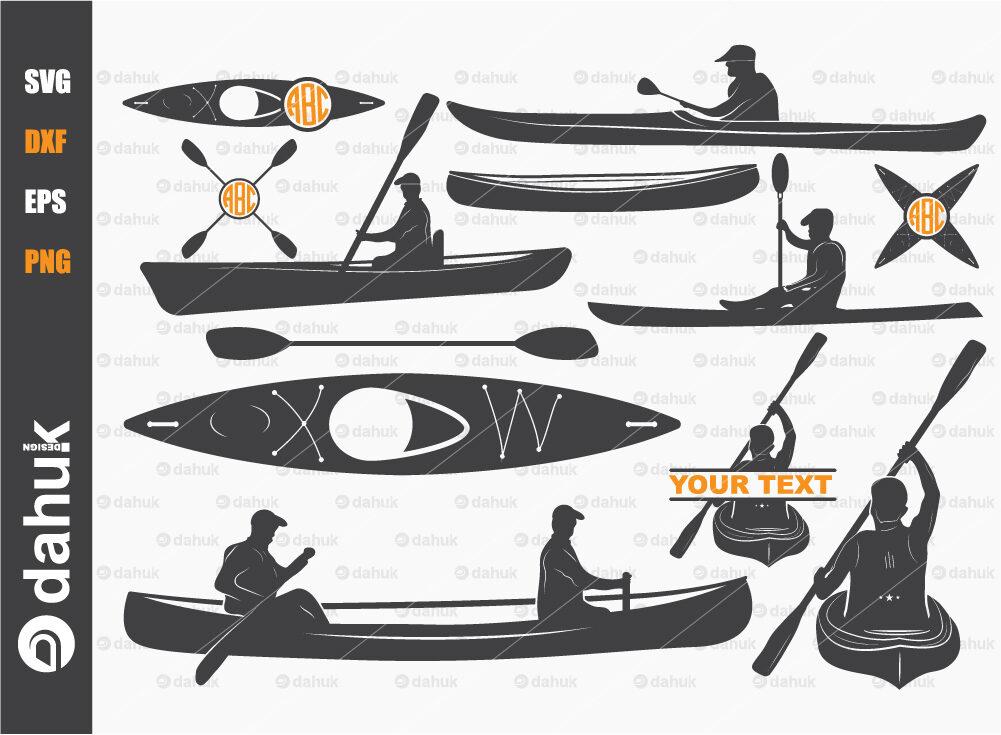 Kayak boat SVG, Kayaker SVG, Kayak Paddle SVG