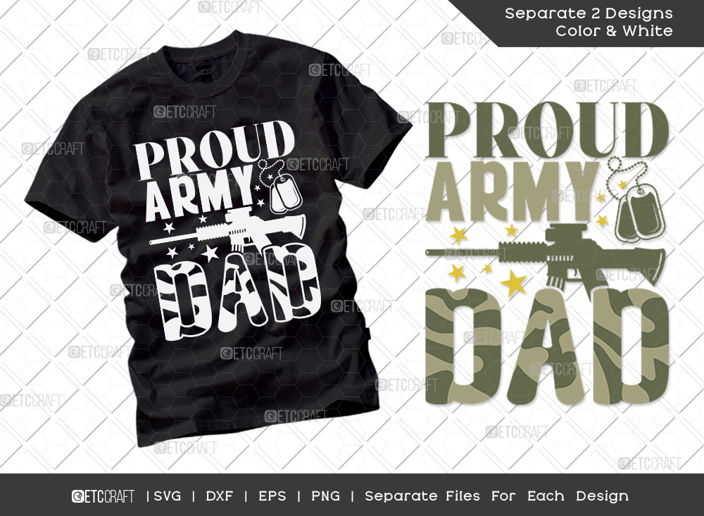 Proud Army Dad SVG Cut File | Father's Day SVG