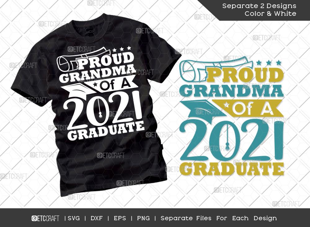 Proud Grandma Of A 2021 Graduate SVG