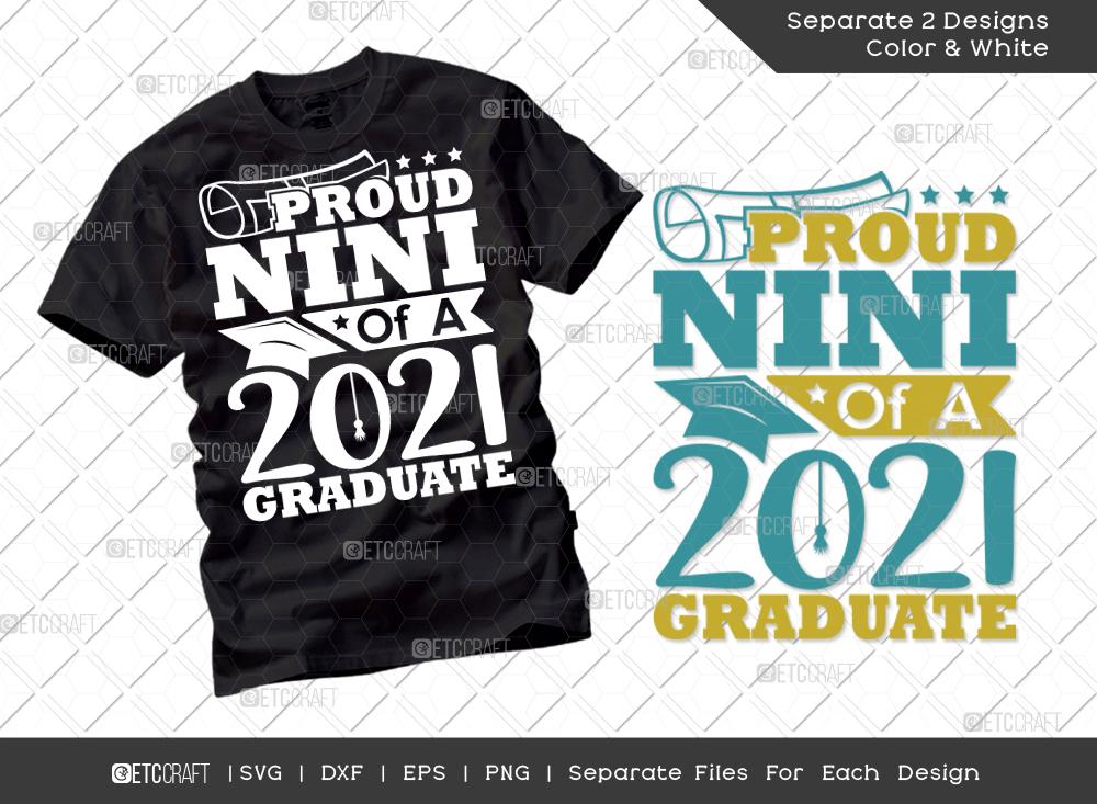 Proud Nini Of A 2021 Graduate SVG Cut File