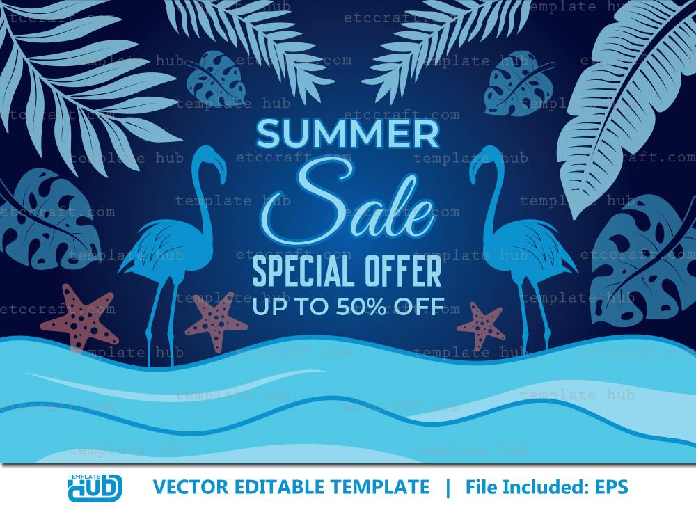 Summer Sales Special Offer, Sales Background