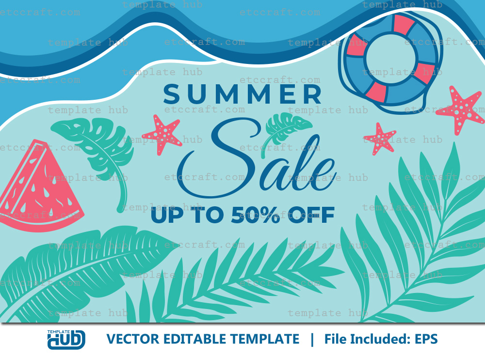 Summer Sales Template, Sales Background