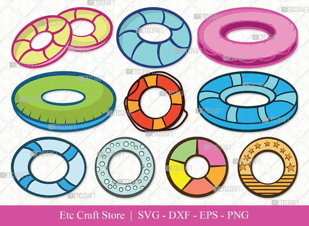Swim Ring Clipart SVG Cut File | Ring Buoy Svg