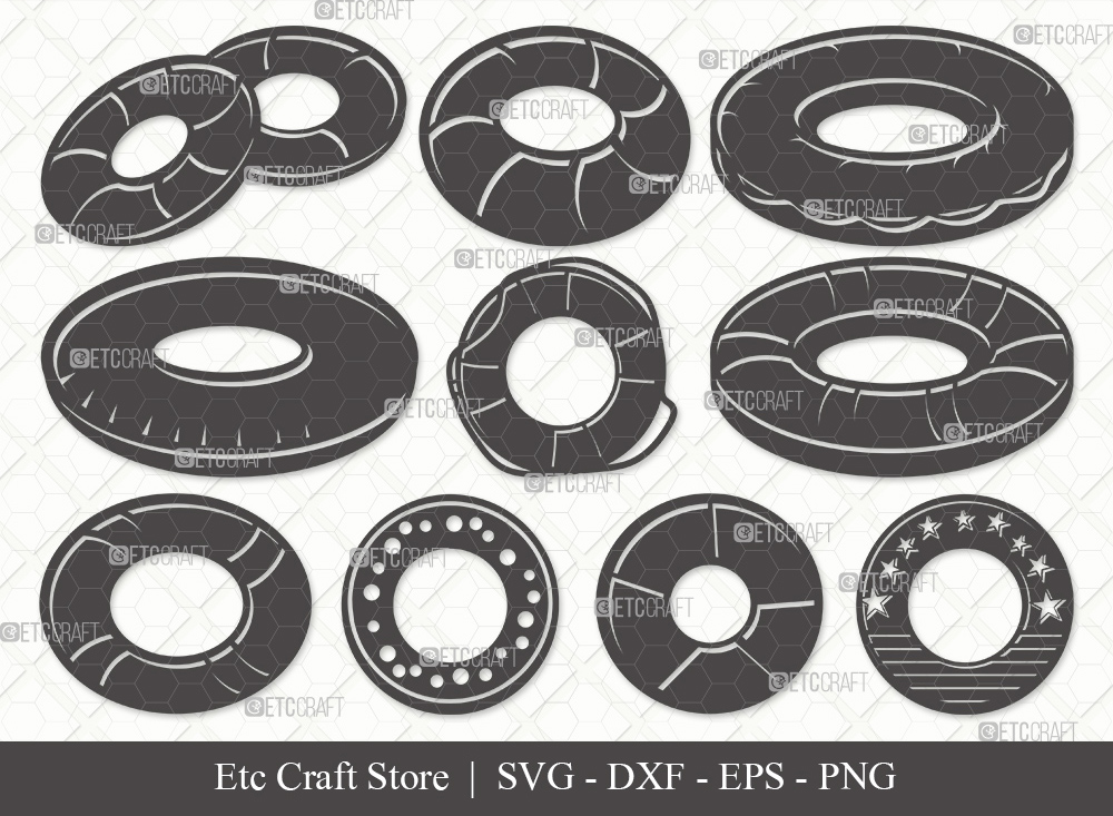 Swim Ring Silhouette SVG | Ring Buoy Svg
