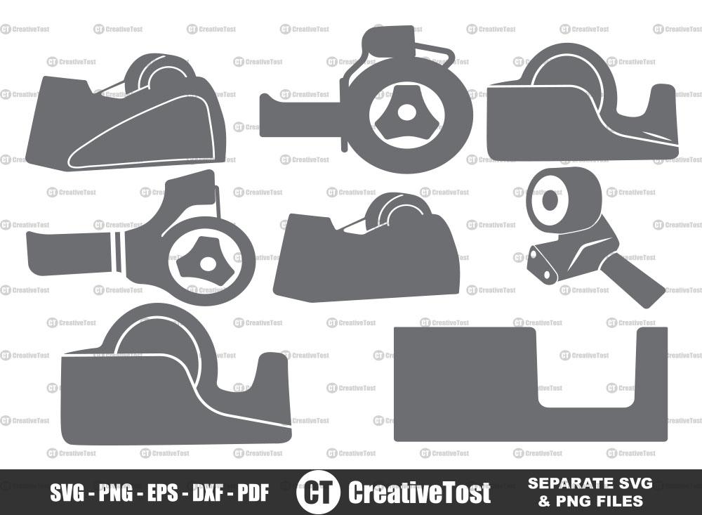 Tape dispenser SVG, Tape dispenser clipart