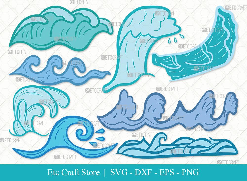 Waves Clipart SVG | Ocean Waves SVG Bundle