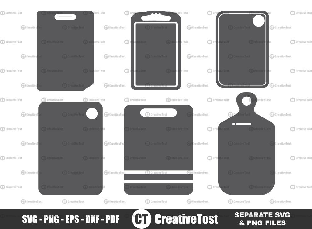 Cutting board SVG, Cutting board Silhouette