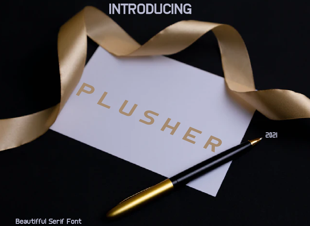 Pleshur Font, Modern Display Font
