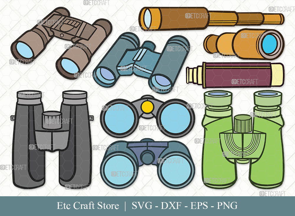 Binocular Clipart SVG Cut File   Binocular Bundle