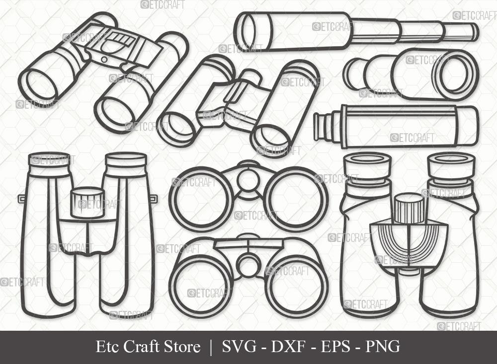 Binocular Outline SVG Cut File   Binocular Bundle