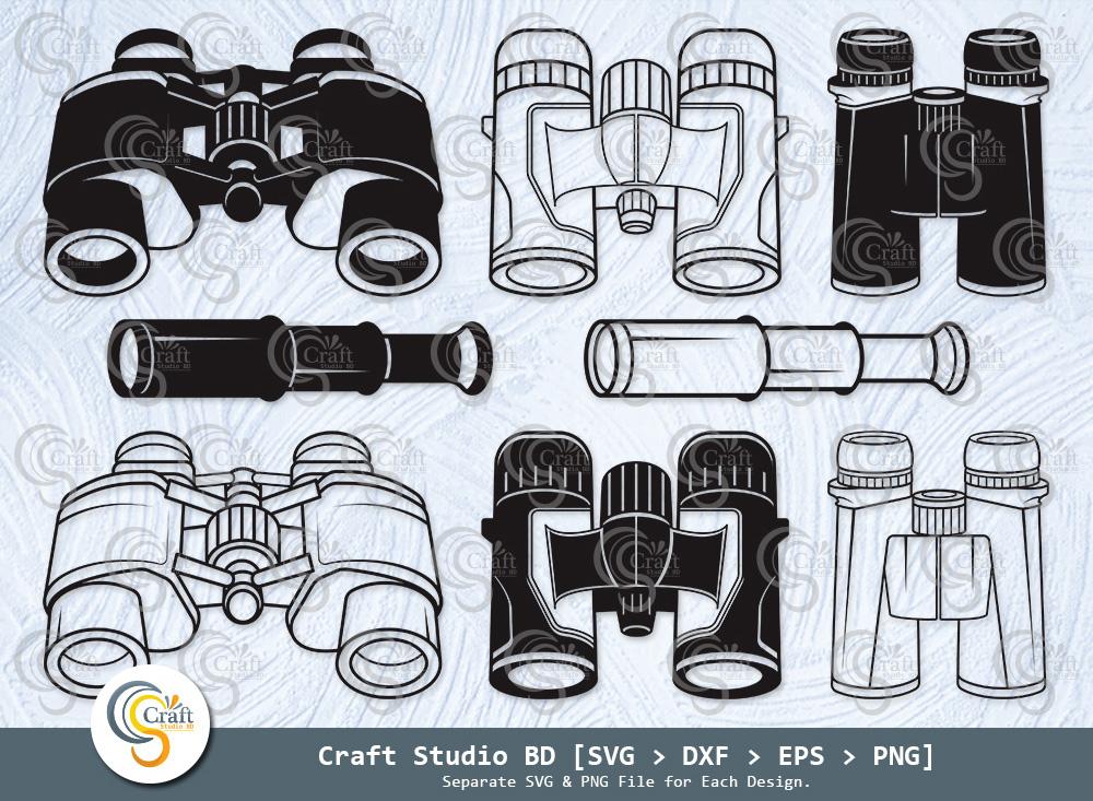 Binocular Silhouette, Binoculars Svg Bundle