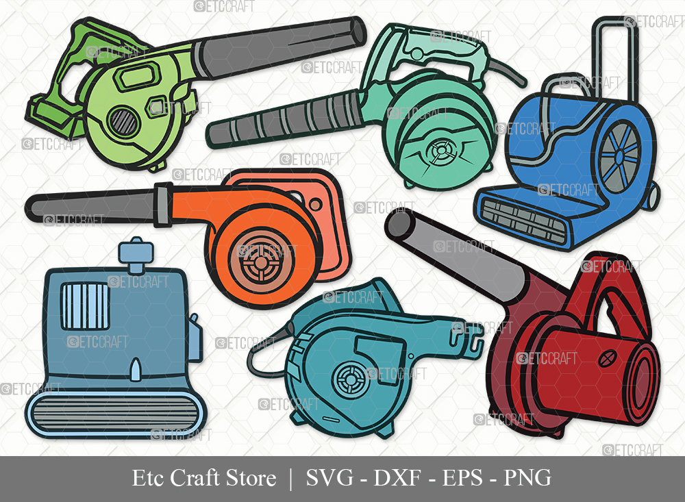 Blower Machine Clipart SVG | Blower Bundle