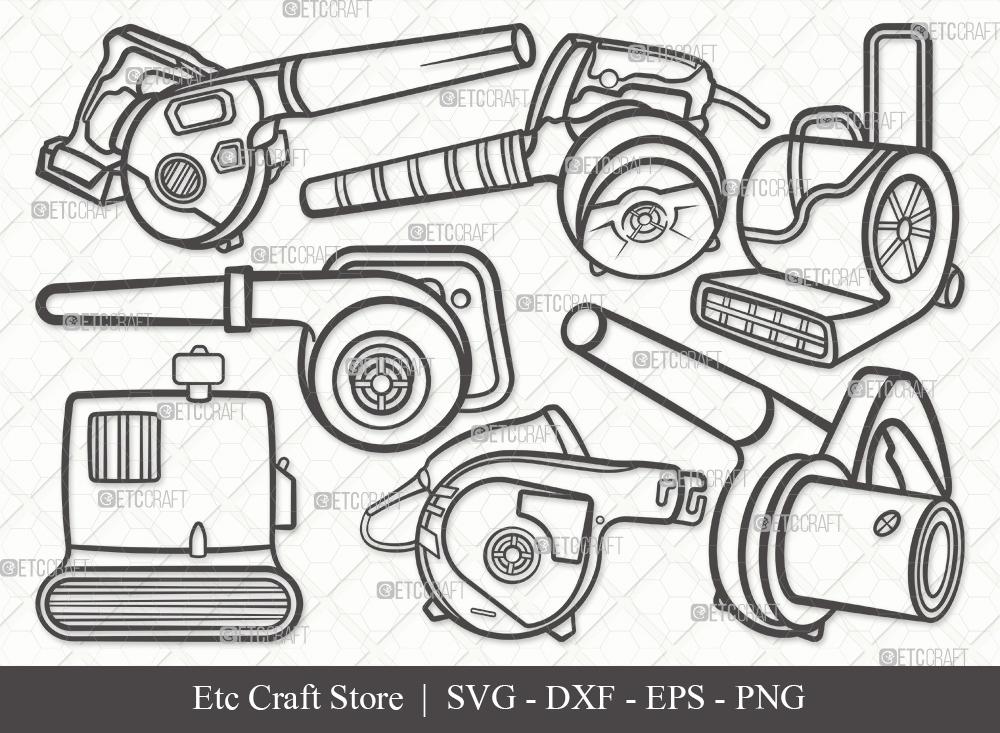Blower Machine Outline SVG | Blower Bundle