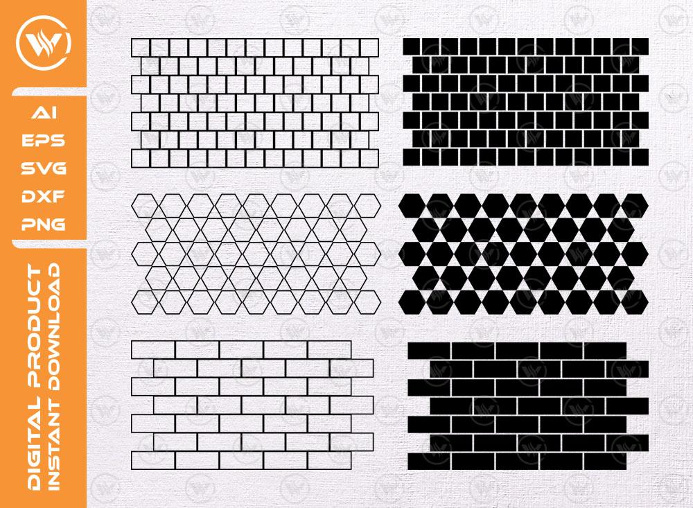 BRICK WALL SVG   Bricks Pattern SVG