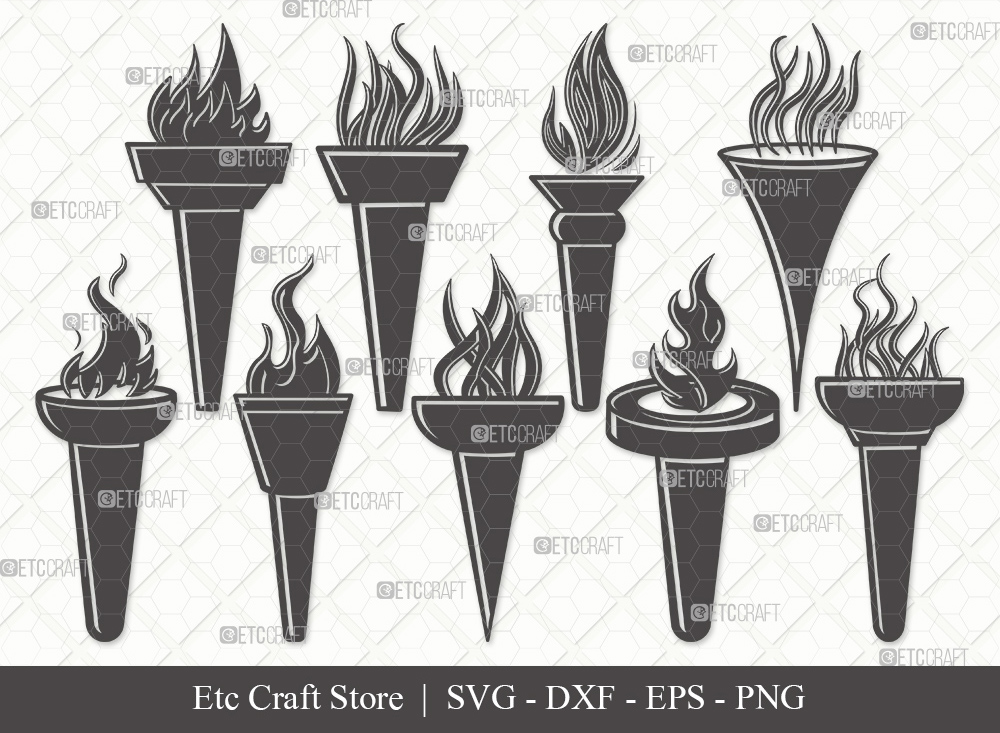 Burning Torch Silhouette   Burning Torch SVG