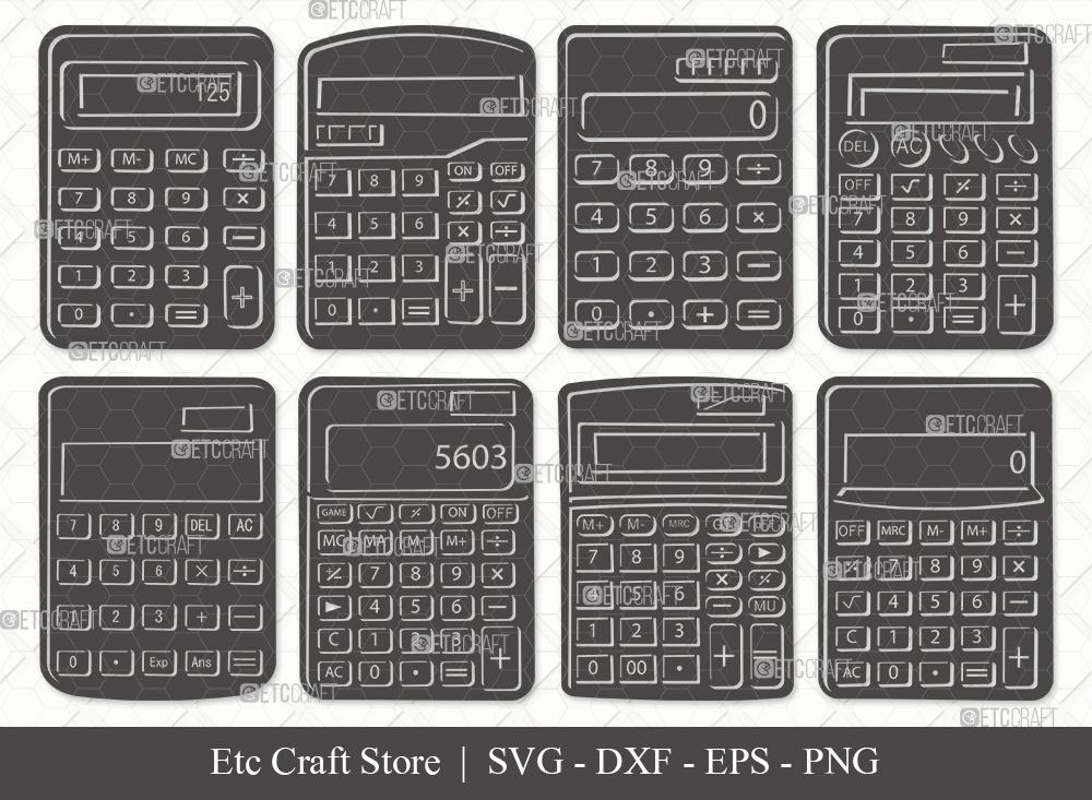 Calculator Silhouette   Calculator SVG Bundle