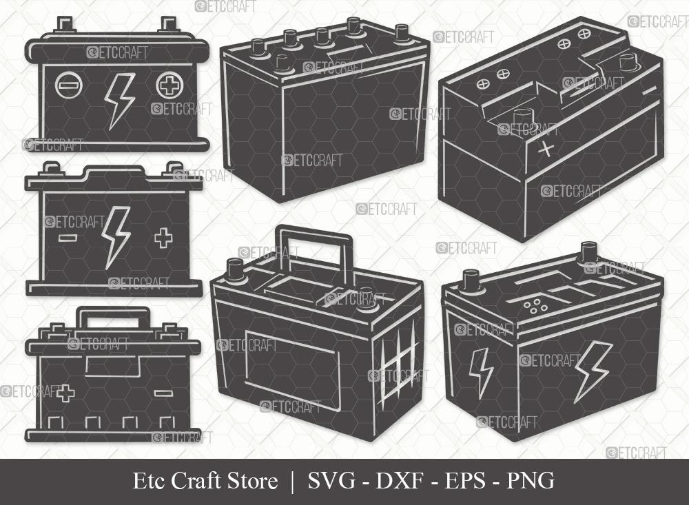 Car Battery Silhouette SVG | Car Battery Bundle