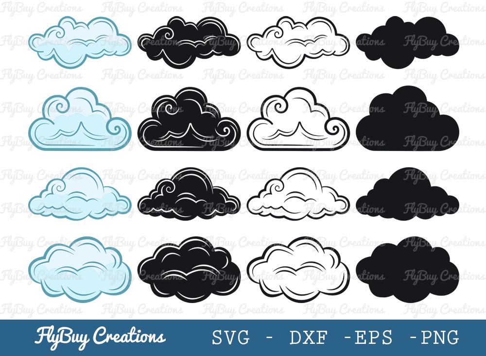 Cloud Bundle SVG | Weather SVG | Sky SVG