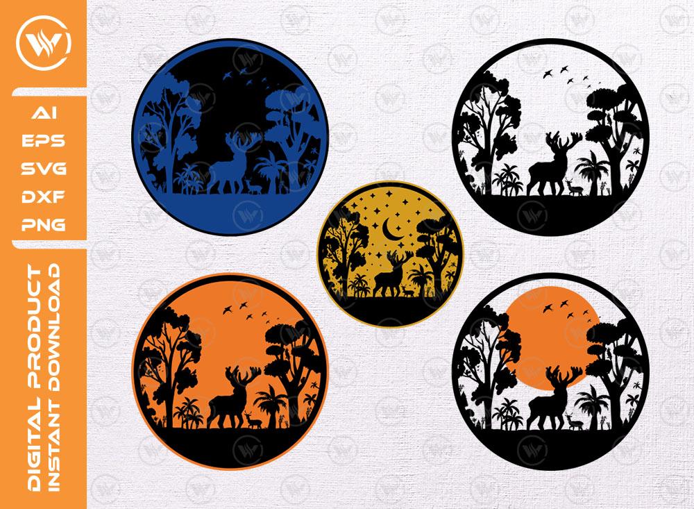 Deer Wildlife SVG | Camping Logo SVG