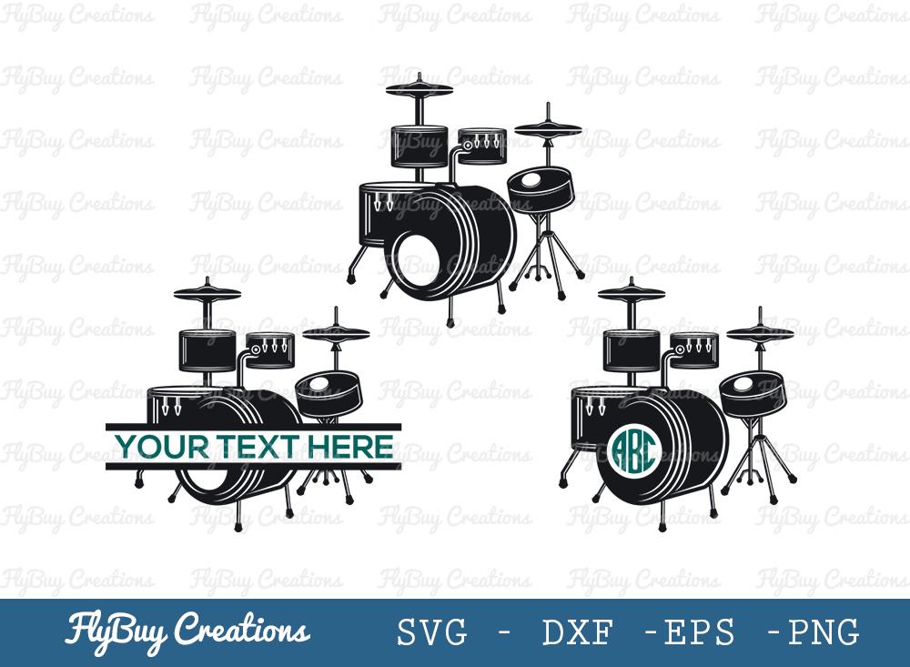 Drums Set Svg | Drumming Svg | Drums Svg