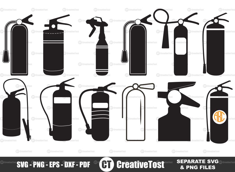 Fire extinguisher SVG, Fire extinguisher Icon