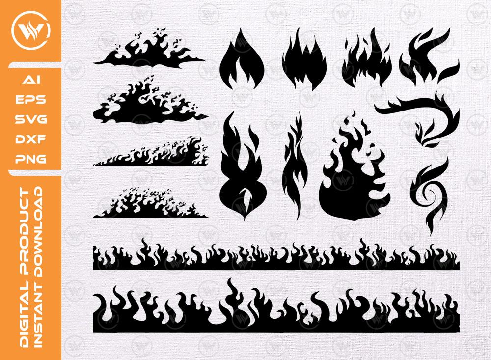 Fire Bundle SVG   Flames   Fire Flames SVG