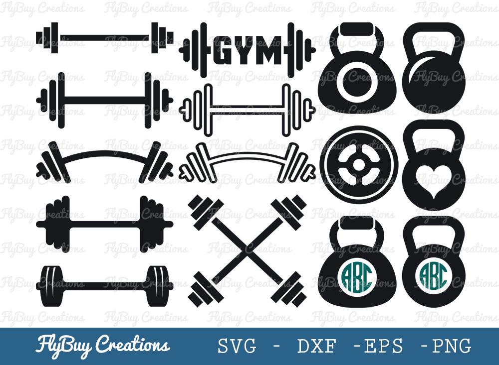 Gym Equipment SVG | Fitness SVG Bundle