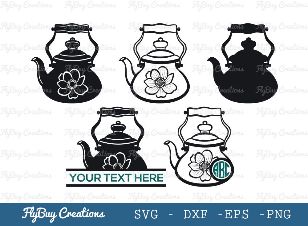 Kettle Svg | Teapot Svg | Teatime Svg