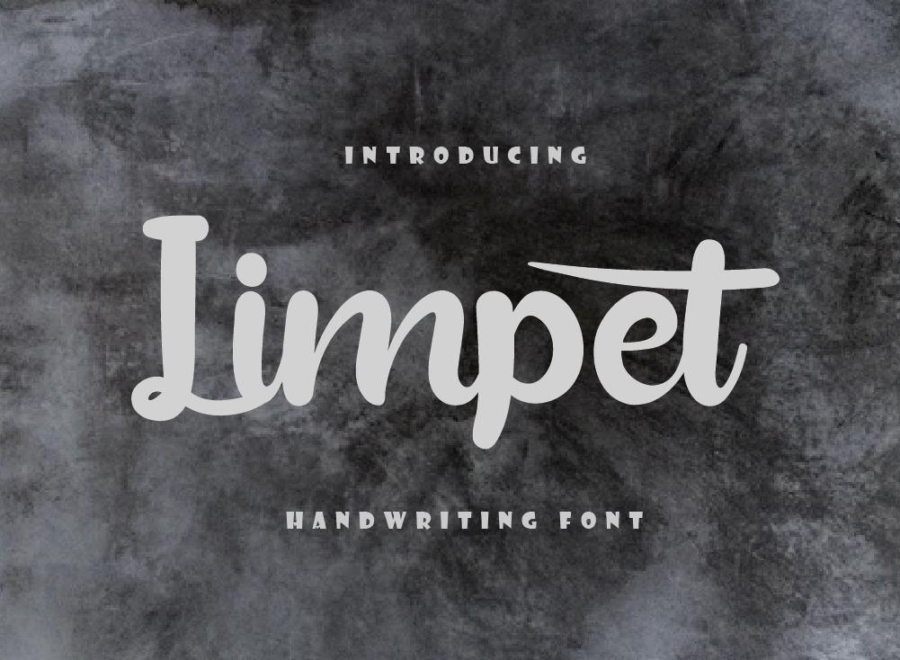 Limpet Font, Handwritten Font