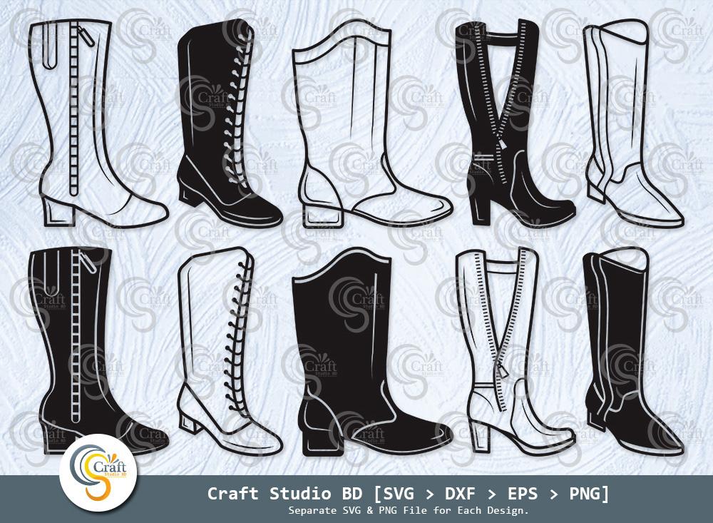 Majorette Boots Silhouette Majorette Boots SVG