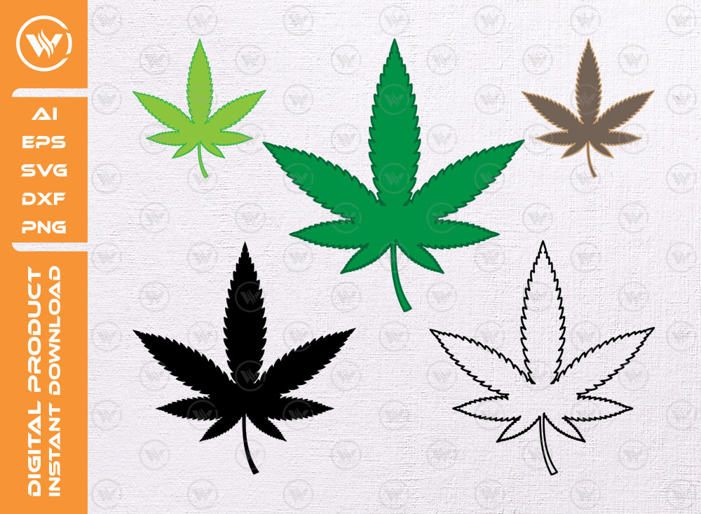 Marijuana Pot Leaf SVG | Cannabis Leaf SVG