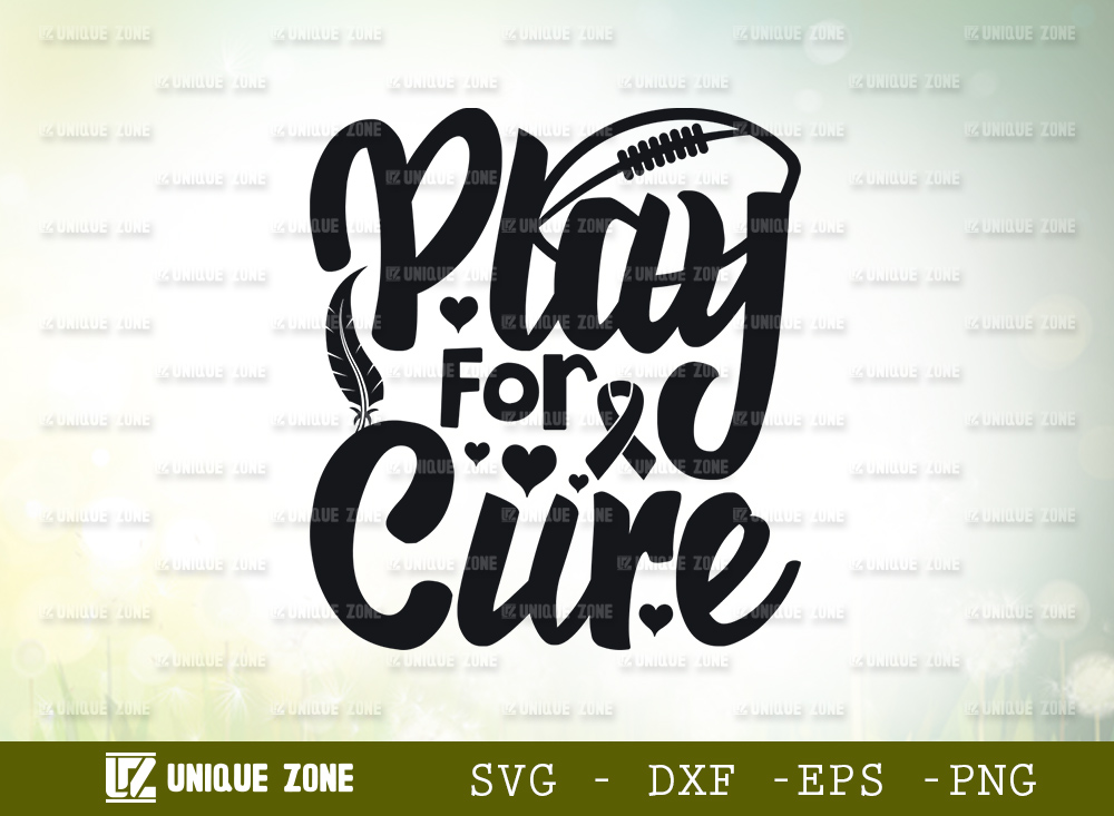 Play For A Cure SVG | Breast Cancer SVG