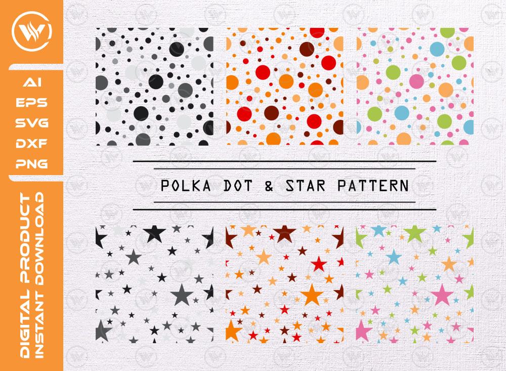 Polka Dot Pattern SVG | Star Pattern SVG