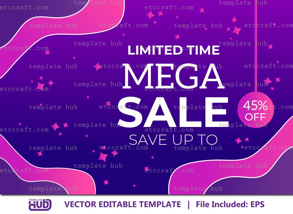 Mega Sale Offer Banner, Sale Background